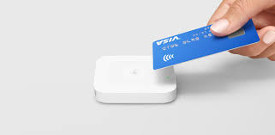 photo of contactless credit card payment