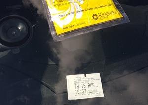 photo of parking ticket in Dewsbury
